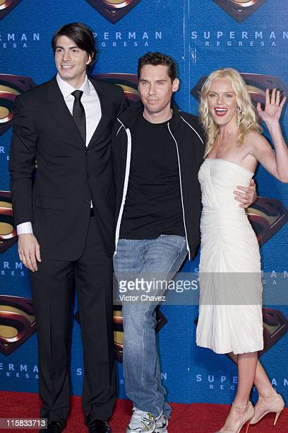 Brandon Routh Bryan Singer director and Kate Bosworth