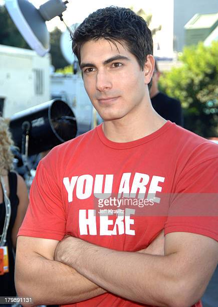 Brandon Routh during 2006 Teen Choice Awards Arrivals at Gibson Amphitheatre in Universal City California United States