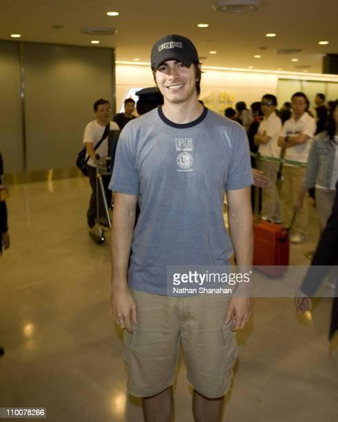 Brandon Routh during Brandon Routh Arrives in Japan to Promote Superman Returns at Narita International Airport in Narita Japan