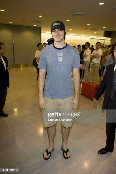 Brandon Routh during Brandon Routh Arrives in Japan to Promote 'Superman Returns' at Narita International Airport in Narita Japan