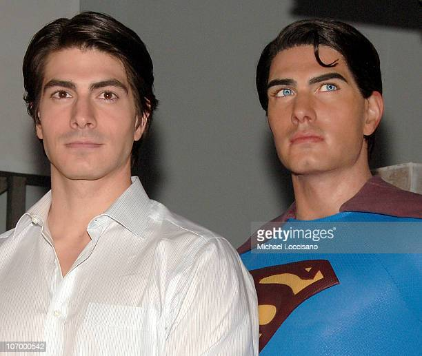 Brandon Routh during Brandon Routh Launches the New Wax Figure of Superman from Superman Returns June 27 2006 at Madame Tussauds New York in New York...
