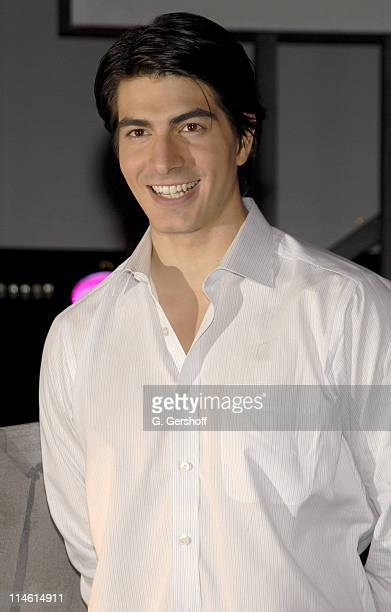 Brandon Routh during Brandon Routh Unveils Superman Wax Figure at Madame Tussauds New York June 27 2006 at Madame Tussauds New York in New York City...