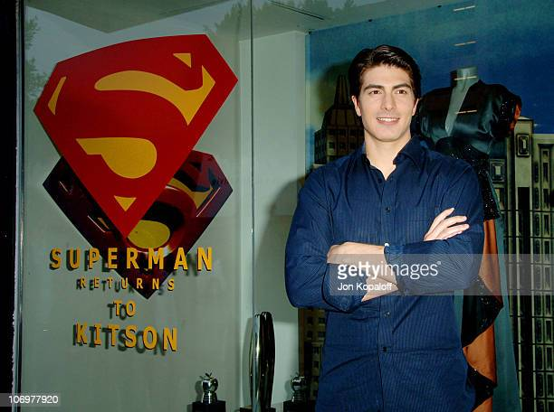 Brandon Routh during Kate Bosworth and Brandon Routh Visit Kitson to Promote Superman Returns May 1 2006 at Kitson in Beverly Hills California United...
