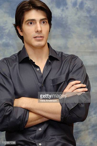 Brandon Routh during 'Superman Returns' Press Conference with Bryan Singer Brandon Routh Kate Bosworth Kevin Spacey and Eva Marie Saint at Century...
