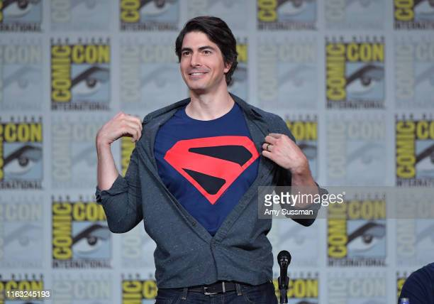 Brandon Routh speaks at the Arrow Special Video Presentation And QA during 2019 ComicCon International at San Diego Convention Center on July 20 2019...