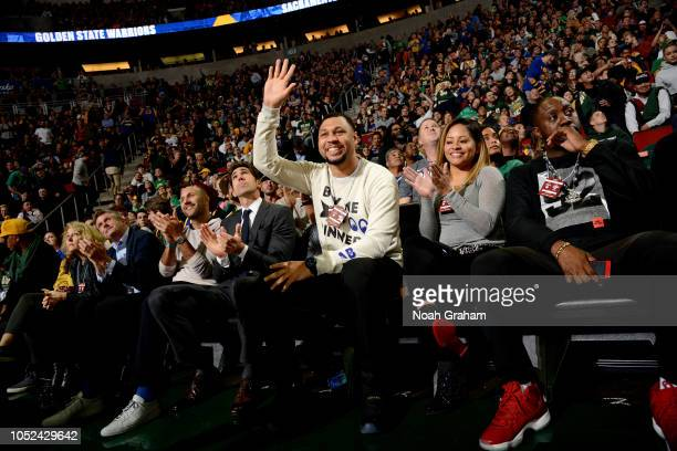 Brandon Roy is seen at the game between the Golden State Warriors and the Sacramento Kings during a preseason game on October 5 2018 at KeyArena in...