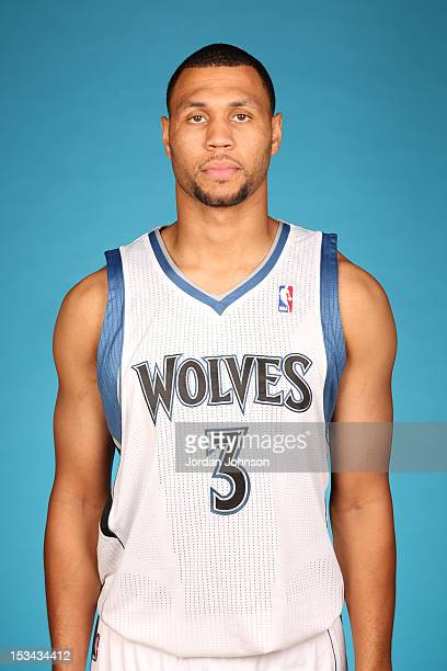 Brandon Roy of the Minnesota Timberwolves poses for a portrait during 2012 NBA Media Day on October 1 2012 at Target Center in Minneapolis Minnesota...
