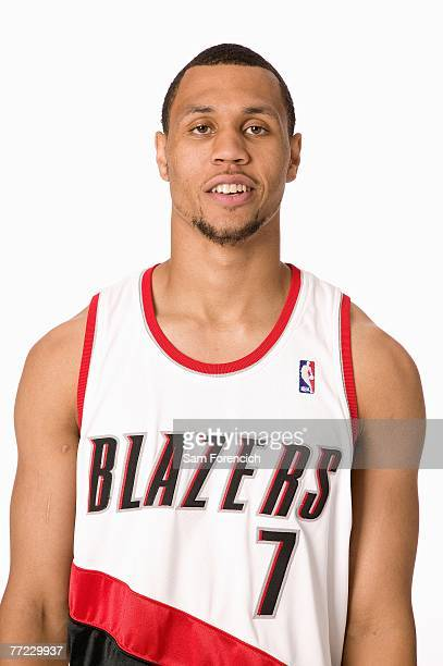 Brandon Roy of the Portland Trail Blazers poses for a portrait during NBA Media Day at the Rose Garden on October 1 2007 in Portland Oregon NOTE TO...