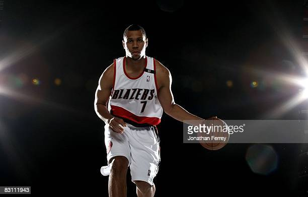 Brandon Roy of the Portland Trail Blazers poses for a portrait during Media Day for the Portland Trail Blazers at the Rose Garden on September 29...
