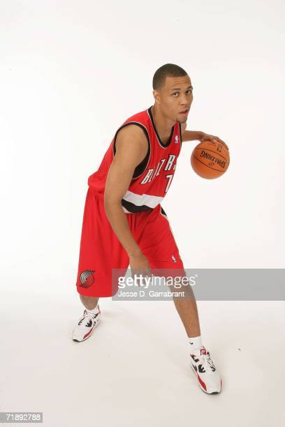 Brandon Roy of the Portland Trail Blazers poses for a portrait on September 14 2006 at the IBM Palisades Executive Conference Center in Palisades New...