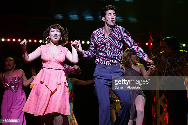 Brandon Rubendall who plays the character Tony Manero and Mikkie Bradshaw who plays the character Annette in the Saturday Night Fever The Musical...