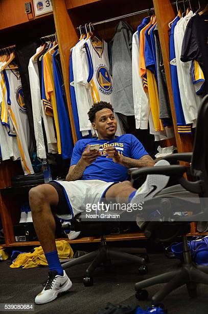 Brandon Rush of the Golden State Warriors before facing the Cleveland Cavaliers for Game Two of the 2016 NBA Finals on June 5 2016 at ORACLE Arena in...