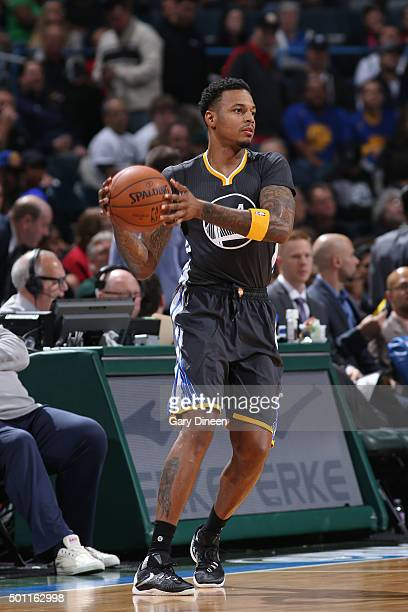 Brandon Rush of the Golden State Warriors handles the ball during the game against the Milwaukee Bucks on December 12 2015 at the BMO Harris Bradley...