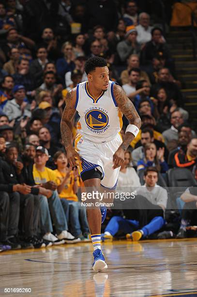 Brandon Rush of the Golden State Warriors runs down the court while facing the Phoenix Suns on December 16 2015 at Oracle Arena in Oakland California...