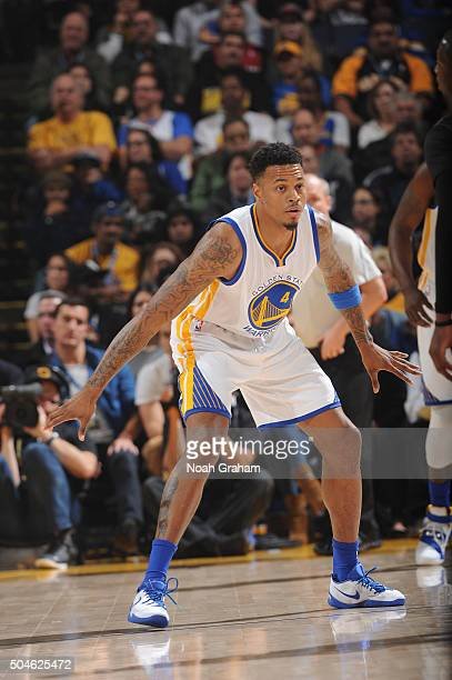 Brandon Rush of the Golden State Warriors while facing the Miami Heat on January 11 2016 at Oracle Arena in Oakland California NOTE TO USER User...
