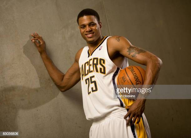 Brandon Rush of the Indiana Pacers poses for a portrait during NBA Media Day on September 29, 2008 at Conseco Fieldhouse in Indianapolis, Indiana....