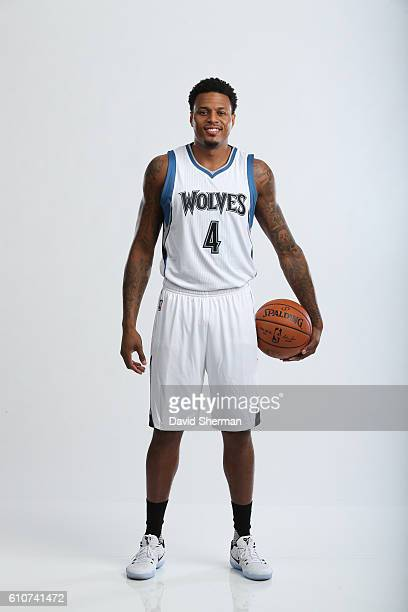 Brandon Rush of the Minnesota Timberwolves poses for a portrait during the 2016 2017 Minnesota Timberwolves Media Day on September 26 2016 at Target...