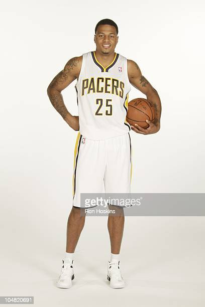 Brandon Rush poses for a photo during the Indiana Pacers media day on September 27 2010 at Conseco Fieldhouse in Indianapolis Indiana NOTE TO USER...