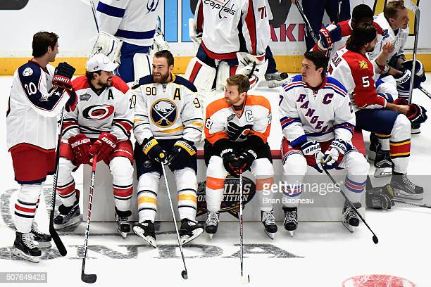 Brandon Saad of the Columbus Blue Jackets Justin Faulk of the Carolina Hurricanes Ryan O'Reilly of the Buffalo Sabres Claude Giroux of the...