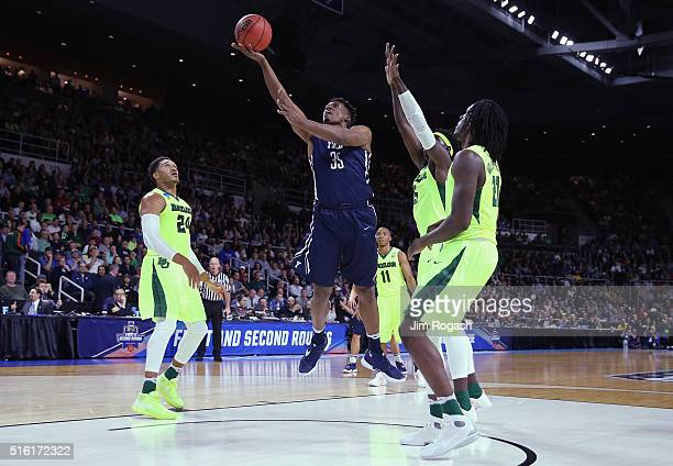 Brandon Sherrod of the Yale Bulldogs shoots the ball in the first half against the Baylor Bears during the first round of the 2016 NCAA Men's...