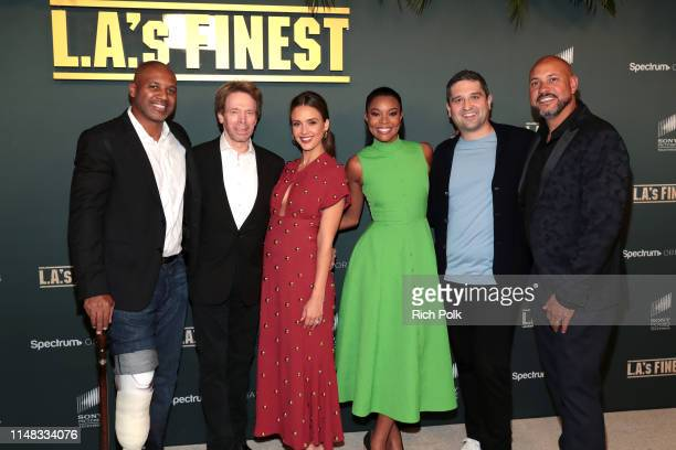 Brandon Sonnier Jerry Bruckheimer Jessica Alba Gabrielle Union Brandon Margolis and Anton Cropper attend Spectrum Originals and Sony Pictures...