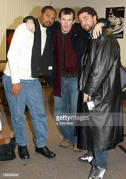Brandon Sonnier Steven Connell and Rahman Jamaal during 2003 Sundance Film Festival Filmmaking and Music Panel at The Library in Park City Utah...