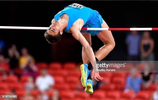 Brandon Starc clears the bar in the final of the Men's High Jump event during the Australian Athletics Championships Nomination Trials at Carrara...