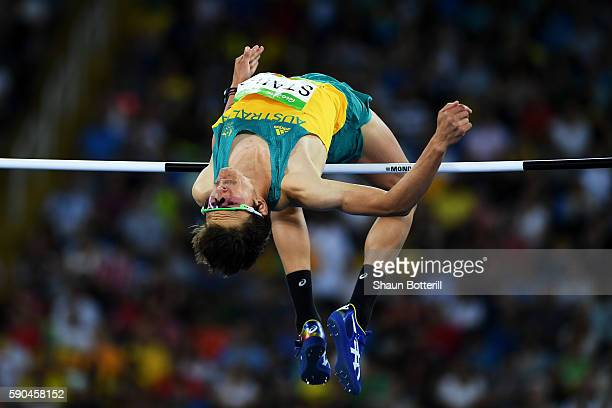 Brandon Starc of Australia competes during the Men's High Jump Final on Day 11 of the Rio 2016 Olympic Games at the Olympic Stadium on August 16 2016...