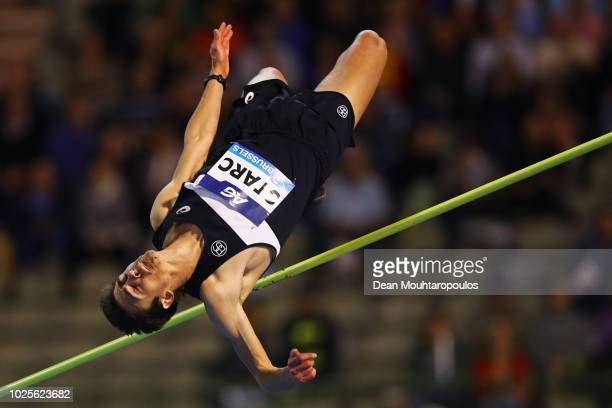 Brandon Starc of Australia competes in the Men's High Jump during the IAAF Diamond League AG Memorial Van Damme at King Baudouin Stadium on August 31...