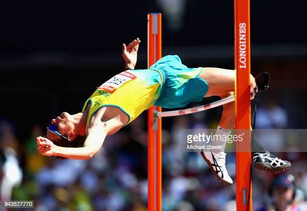 Brandon Starc of Australia competes in the Men's High Jump qualification during the Athletics on day five of the Gold Coast 2018 Commonwealth Games...
