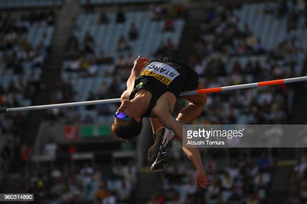 Brandon Starc of Australia competes in the Men's High Jump during the IAAF Golden Grand Prix at Yanmar Stadium Nagai on May 20 2018 in Osaka Japan