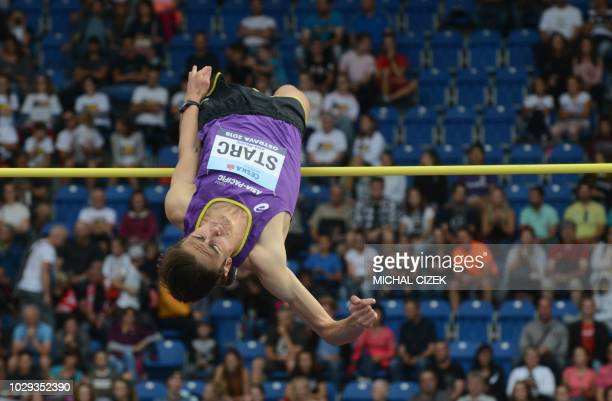 Brandon Starc of Australia from Team Asia and Pacific competes in the Men High Jump event at the IAAF Continental Cup on September 8 2018 in Ostrava...
