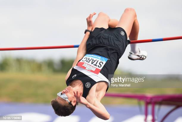 Brandon Starc of Australia in action in the High Jump during the Muller Grand Prix Birmingham IAAF Diamond League 2018 on August 18 2018 in...