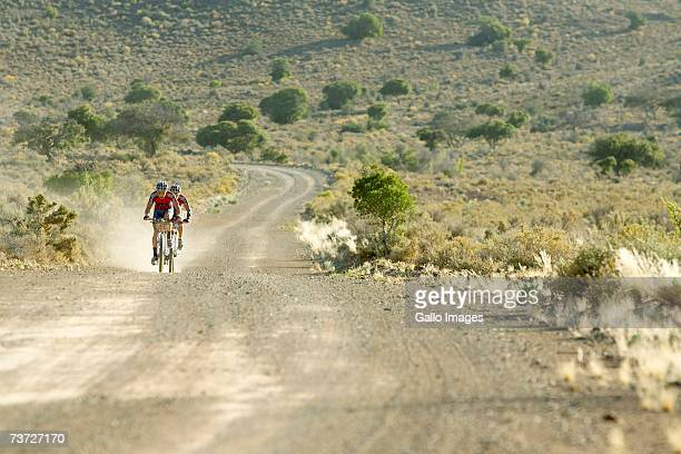 Brandon Stewart and Kevin Evans launch a breakaway of about 65km during stage four of the 2007 Absa Cape Epic Mountain Bike stage race from Ladismith...