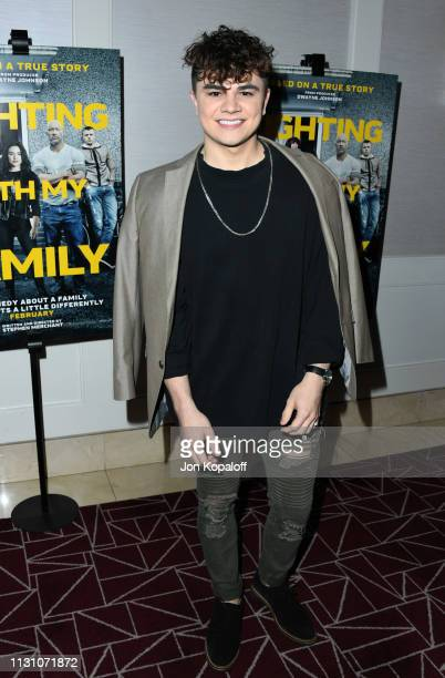 Brandon Stewart attends Fighting With My Family Los Angeles Tastemaker Screening at The London Hotel on February 20 2019 in West Hollywood California