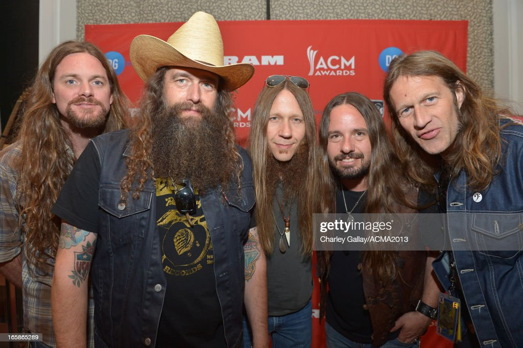 Brandon Still, Brit Turner, Charlie Starr, Paul Jackson, and Richard Turner of music group Blackberry Smoke attend the Dial Global Radio Remotes during the 48th Annual Academy of Country Music Awards at MGM Grand Garden Arena on April 6, 2013 in Las Vegas, Nevada.