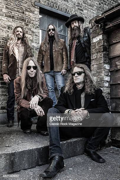 Brandon Still Paul Jackson Brit Turner Richard Turner and Charlie Starr of American country rock group Blackberry Smoke taken on November 15 2013