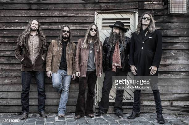 Brandon Still Paul Jackson Charlie Starr Brit Turner and Richard Turner of American country rock group Blackberry Smoke taken on November 15 2013