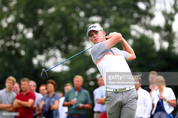 Brandon Stone of South Africa hits his tee shot on the 5th during the final round on day four of the KLM Open at The Dutch on September 11 2016 in...