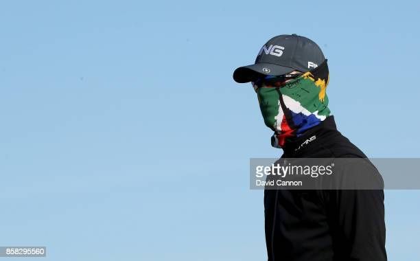 Brandon Stone of South Africa on the first hole during the second round of the 2017 Alfred Dunhill Links Championship on the Championship Links at...