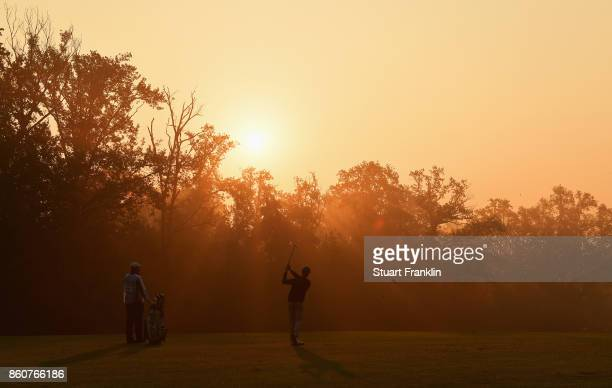 Brandon Stone of South Africa plays a shot during day two of the Italian Open at Golf Club Milano Parco Reale di Monza on October 13 2017 in Monza...