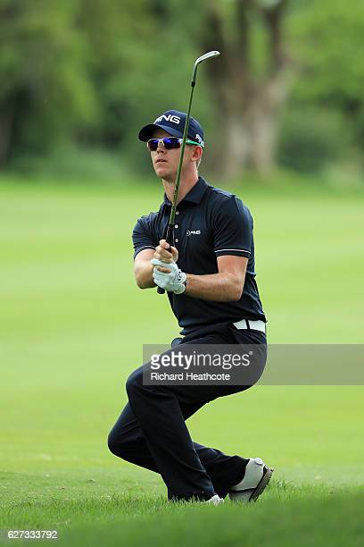Brandon Stone of South Africa plays into the 3rd green during the third round of the Alfred Dunhill Championships at Leopard Creek Country Golf Club...