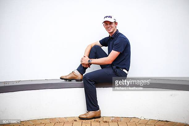 Brandon Stone of South Africa poses for a portrait during a practise round for the Joburg Open at Royal Johannesburg and Kensington Golf Club on...