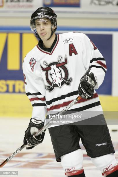 Brandon Sutter of Team BowmanDemers skates during the 2007 Home Hardware CHL/NHL Top Prospects Skills Competition at Colisee Pepsi on January 16 2007...