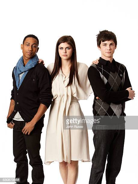 Brandon T Jackson Alexandra Daddario and Logan Lerman star in Percy Jackson the Olympians The Lightning Thief