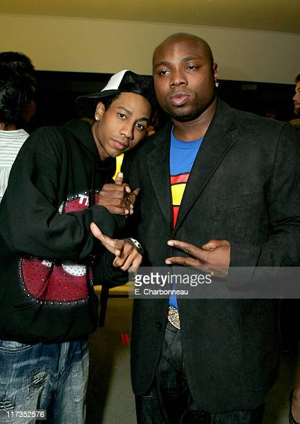 Brandon T Jackson and Page Kennedy during FoxSearchlight Pictures Present the Los Angeles Premiere of Roll Bounce After Party at The Bridge at Howard...