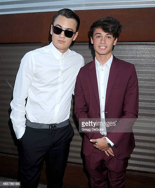 Brandon Thomas Lee and Dylan Jagger Lee arrive at The Hidden Heroes Gala presented by Mercy For Animals at Unici Casa on August 29 2015 in Culver...