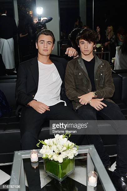Brandon Thomas Lee and Dylan Jagger Lee attend The Daily Front Row Fashion Los Angeles Awards Private Dinner Hosted By Eva Chow And Carine Roitfeld...