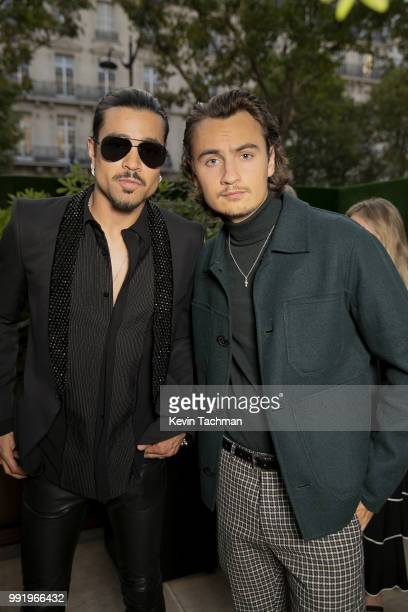 Brandon Thomas Lee attends the amfAR Paris Dinner at The Peninsula Hotel on July 4 2018 in Paris France