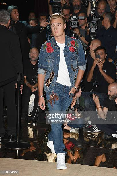 Brandon Thomas Lee attends the Dolce And Gabbana show during Milan Fashion Week Spring/Summer 2017 on September 25 2016 in Milan Italy